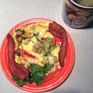 Guacamole, veggies, bacon