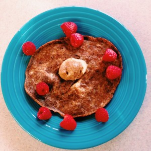 Low Carb Pancake With Almond Butter